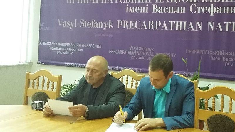 """Меморандум між НП """"Прикарпатський університет"""" та ГО """"Сильна нація"""""""